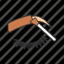 henna, brow, tint, dye, paint, brush, eyebrow