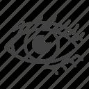 eye, eyelashes, eyes, makeup, original icon