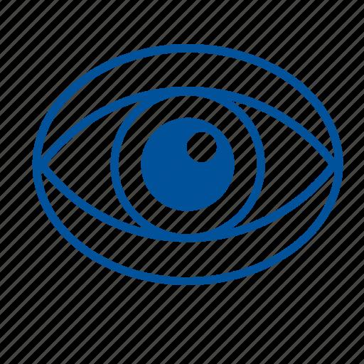 eye, eyesight, human, iris, organ, sight icon