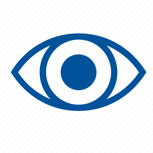 eye, eyesight, human, iris, organ, sight icon