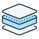 material, mattress, stack, fabric, layer, layers icon