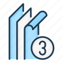 material, three, layered, stack, fabric, layer, layers icon