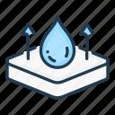 drop, layer, layers, mattress, stack, water, waterproof icon