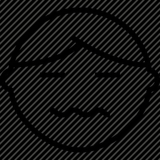 emoji, emotion, face, nervou, status icon