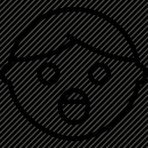 emoji, emotion, face, status, surprised icon