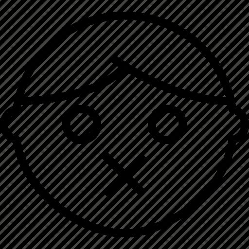 emoji, emotion, face, muted, status icon