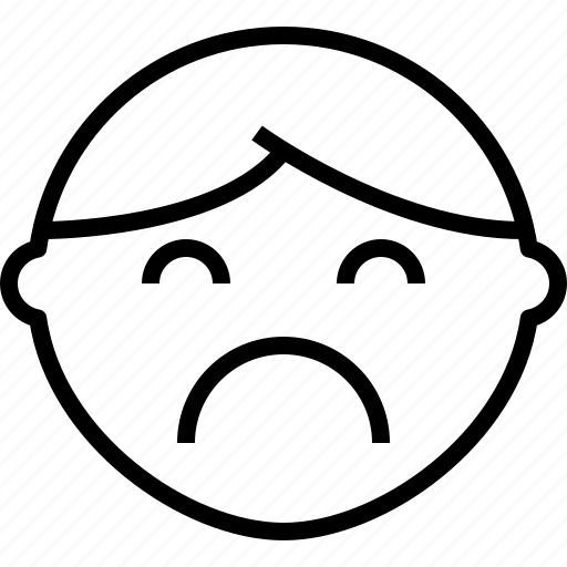 emoji, emotion, face, sad, status icon