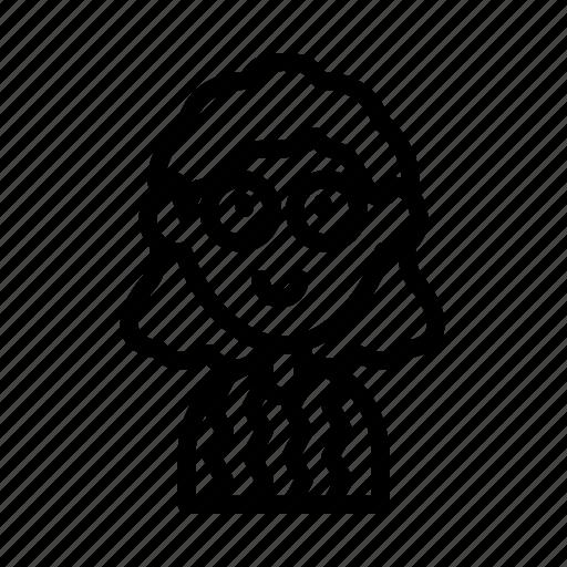 avatar, dork, geeky, glasses, nerd, sweater icon