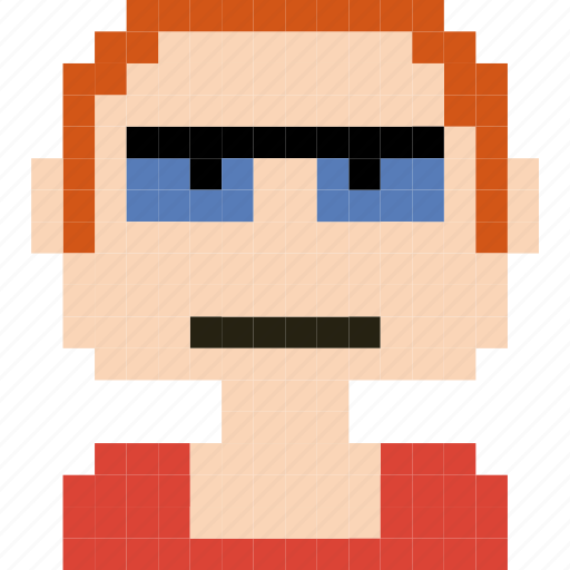 Avatar, face, human, man, person, pixelated, worker icon - Download on Iconfinder