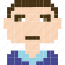 worker, face, person, avatar, human, man, pixelated