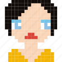 avatar, face, girl, human, person, pixelated icon