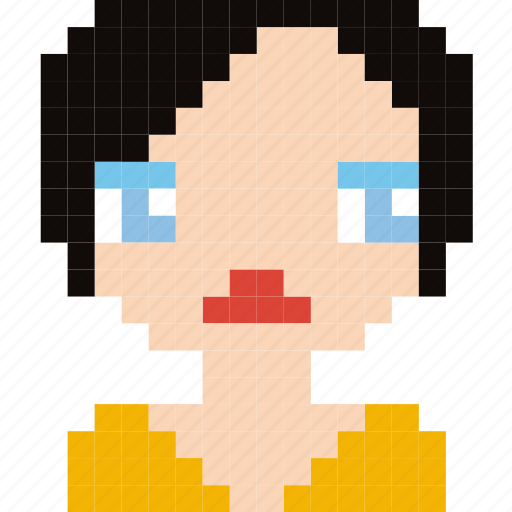 Avatar, face, girl, human, person, pixelated icon - Download on Iconfinder