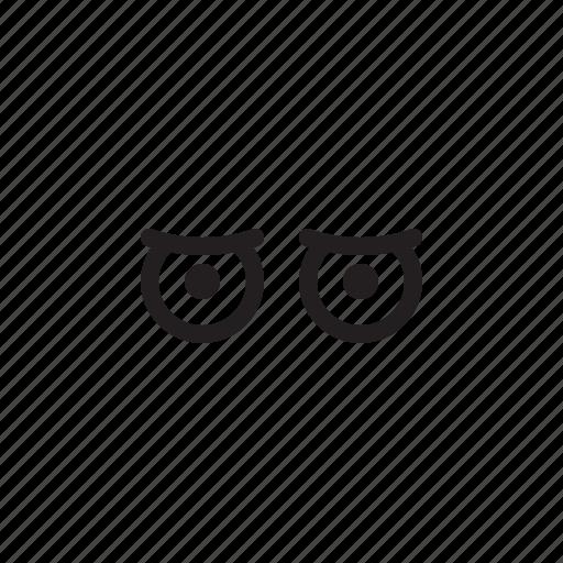 emoji, expression, eyes, face, stranged icon
