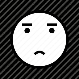 emotion, face, sad icon
