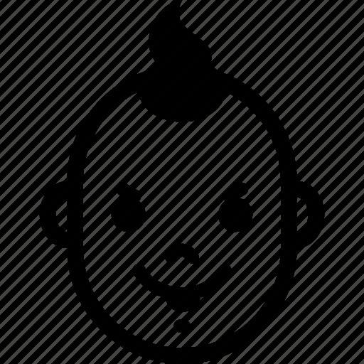 baby, boy, emotion, evil, face, hair, head icon