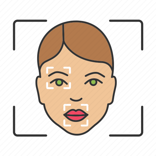 face, facial, markers, points, procedure, recognition, scanning icon