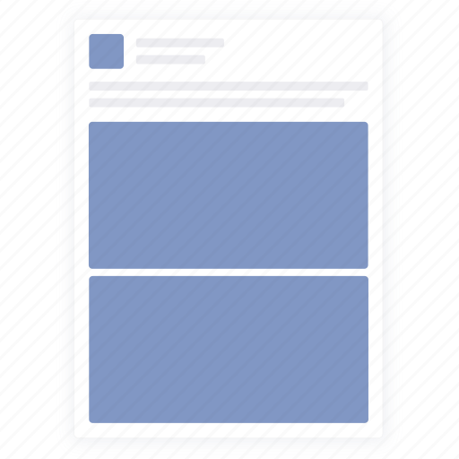 Facebook, facebook image, post, social media icon - Download on Iconfinder