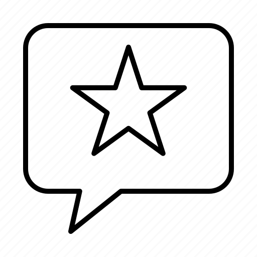 Chat, favorite, message, star icon - Download on Iconfinder