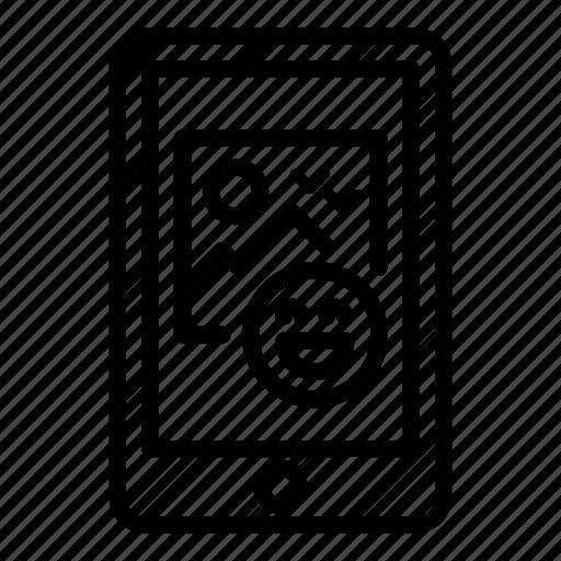facebook, fun, laugh, mobile, picture, post, reaction icon