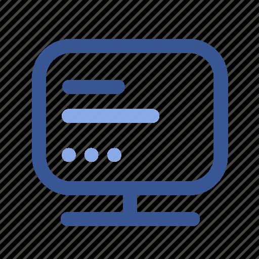 desktop, facebook, info, messages, messenger, social, text icon