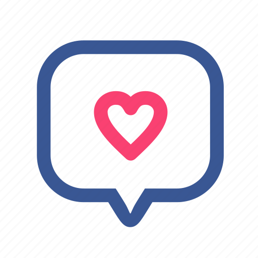 bubble, facebook, heart, like, love, notification, social media icon