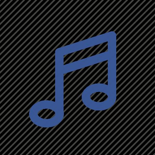 facebook, melody, music, social media, song, sound icon