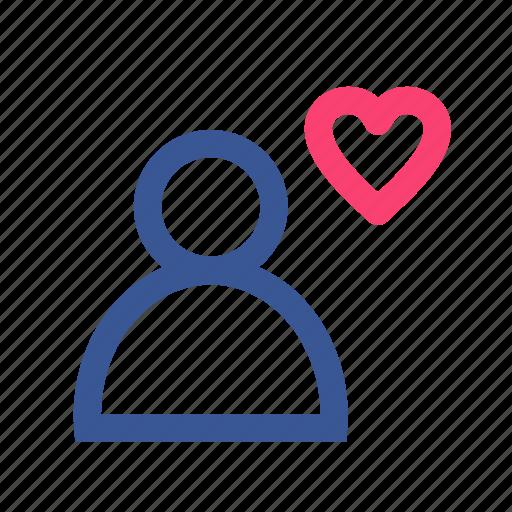 facebook, family, friend, heart, social, user icon