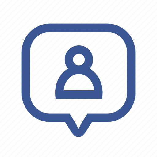bubble, facebook, media, note, notification, user, users icon