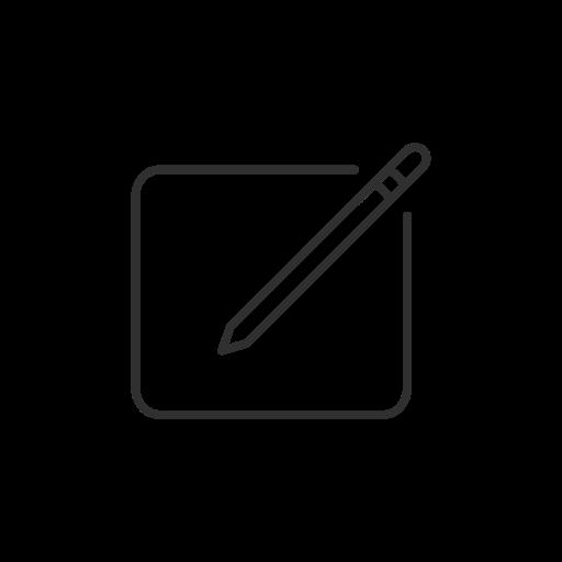 creati, facebook, pencil, write post icon