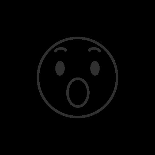 amazed emoji, emoji, facebook, fb reaction icon