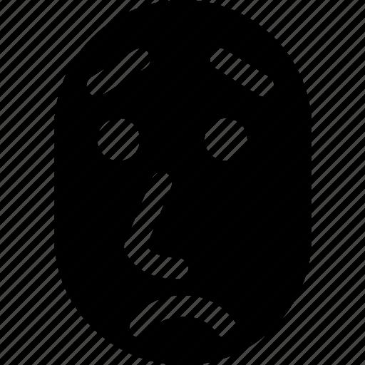 face, person, sad, unhappy, upset icon
