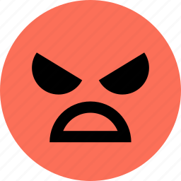angry, avatar, dog, emoji, emotion, face icon