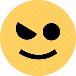 avatar, emoji, emotion, face, happy, wink icon