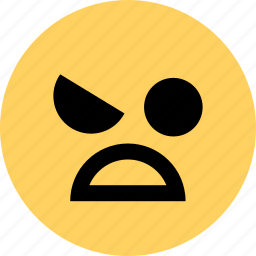 angry, avatar, emoji, emotion, face, huh icon