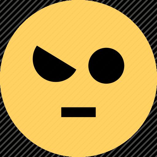 avatar, emoji, emotion, face, impressed, not icon