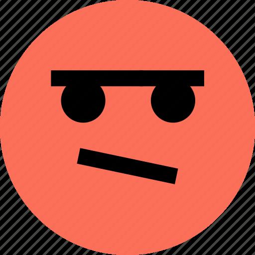 avatar, brown, emoji, emotion, eye, faces, one icon