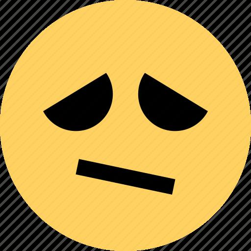 avatar, dude, emoji, emotion, face, sad icon