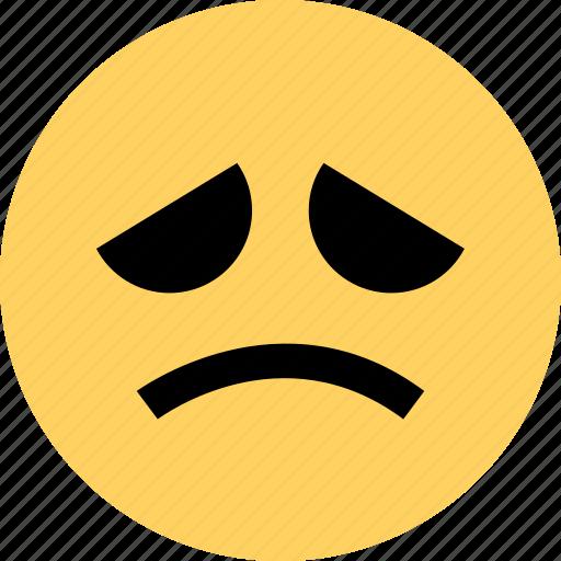 avatar, emoji, emotion, face, rain, sad, weather icon