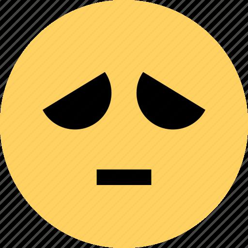 avatar, emoji, emotion, face, sad, so icon