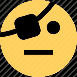 avatar, emoji, emotion, faces, pirate, thinking icon
