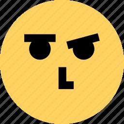 avatar, emoji, emotion, face, thinking, thought icon