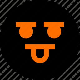 face, feeling, tongue icon