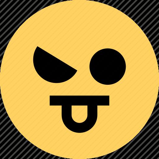 avatar, emoji, emotion, face, funny, tongue icon