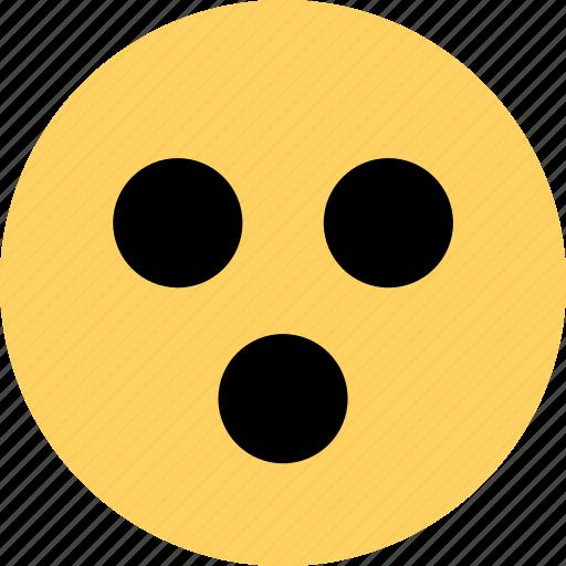 avatar, dude, emoji, emotion, face, wow icon
