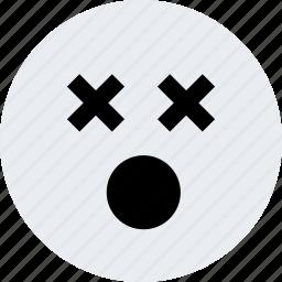 avatar, dead, emoji, emotion, faces, x icon