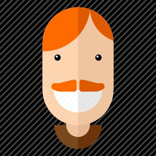 avatar, dad, faces, male, man, moustache, profile icon
