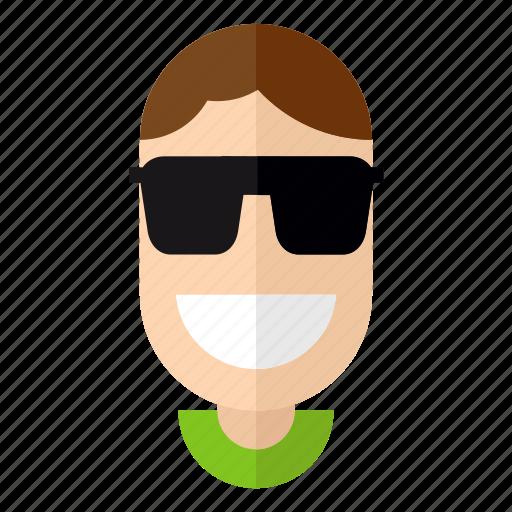 avatar, faces, glasses, male, man, profile, stylish icon