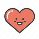 emoji, emojis, emoticon, heart, hearts, love, valentines icon