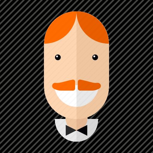 avatar, faces, man, professions, profile, restaurant, waiter icon