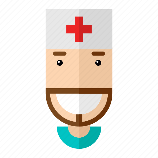 avatar, doctor, faces, health, man, professions, profile icon